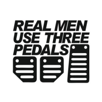 Наклейка Real Men Use Three Pedals
