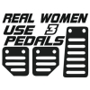 Наклейка Real Women Use 3 Pedals