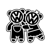 Наклейка VW Bears Family v1