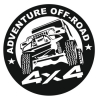 Наклейка Adventure Off-Road 4x4