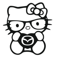 Наклейка Hello Kitty Love Mazda