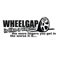 Наклейка Wheelgap is like a vagina