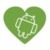 Наклейка In love with Android