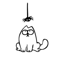 Наклейка Кот Саймона (Simon's Cat) v7 паук