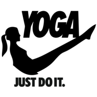 Наклейка Yoga Just Do it
