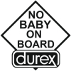 Наклейка No Baby On Board (Durex)