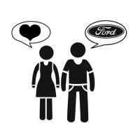 Наклейка Woman Love Man Ford