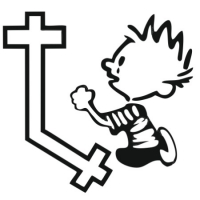 Наклейка Calvin Praying