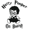 Наклейка Harry Pooper on board